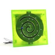 Green plastic spiral