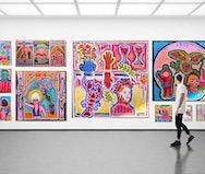 Multicoloured paintings