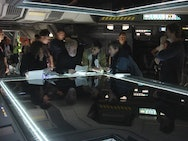 Luke Whitelock on the set of Prometheus