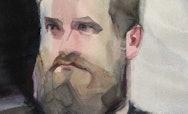 Trevor Herndon painted profile