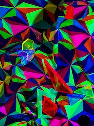 Multicoloured abstract triangles
