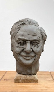 Model head made from clay