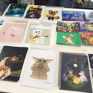 Illustrations being sold at an AUBSU event