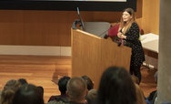 Rachel Dibiaso at a OPOA talk