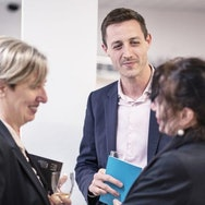 Deputy Vice Chancellor, Professor Emma Hunt in conversation at the Private View