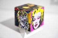 hand painted cube