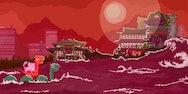 Chinese red scene