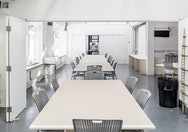 Architecture study spaces with tables and chairs