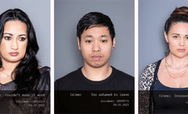 Series of mugshot images