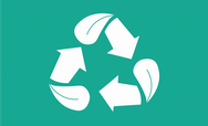 Recycling icon on a green backgrounf