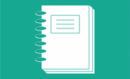 Legal document icon on green background