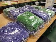 Green and Purple Nursing Scrubs