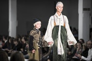 Lady and child on catwalk