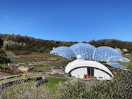 Rainforest Biome at the Eden Project, which is the largest of its kind in the world