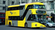 Yellow and grey bus design