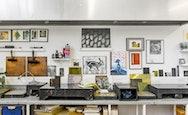 Photograph of the print studio