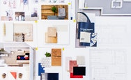 Moodboard of various materials and finishes