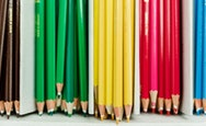 Various different coloured colouring pencils
