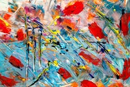 Vibrant expressionist painting