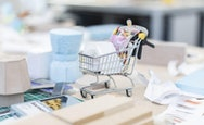 A model of the shopping trolley on the table