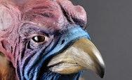 Sculpture of a mythical bird