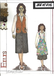 Costume design sketch book