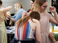 BA (Hons) Costume and Performance Design students hold fittings.
