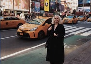 student on trip to new york