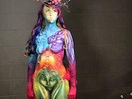 Michelle's winning body paint design