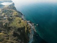 Drone view of the coastline