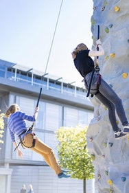 AUB Students abseiling