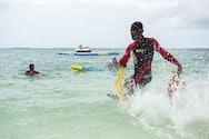 RNLI International - Women splashing through water