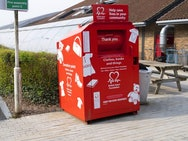 British Heart Foundation clothes and book drop-off point