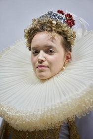 Lady wearing period costume