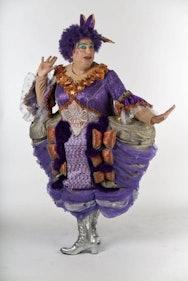 Lady wearing pantomime dress
