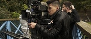 Darius filming on the set of Secret Child