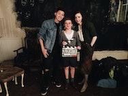 Darius with Fiona Glascott and Austin Taylor on Secret Child