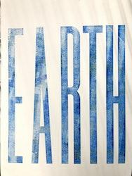 Earth text in letterpress
