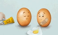 Graphic design image of eggs