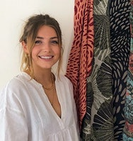 Textiles Graduate Lydia Kretowicz, with her award-winning interior collection