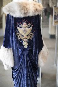 Blue velvet costume