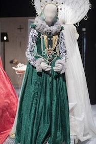 Green women's costume