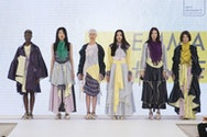 Group of models on a catwalk