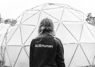 AUB Human volunteer at the Pollution Pods