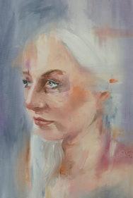 A portrait of a women