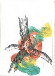 Expressive illustration of a tree in watercolour