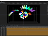 Colourful eye graphic within Adobe After Effects