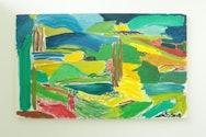 Vibrant expressionist landscape