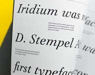 Book detailing the nuances in different typefaces
