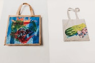 Hand painted tote bags